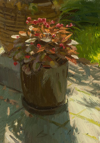 painting titled afternoon begonias