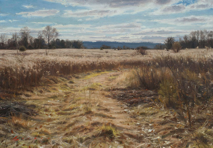 painting titled december meadow