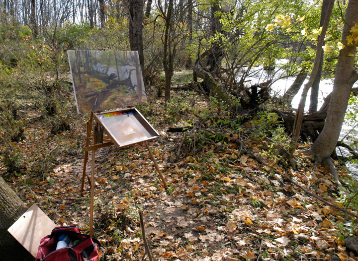 photo of my easel in late november early december