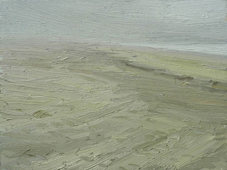 painting titled fog, sand, and gulls