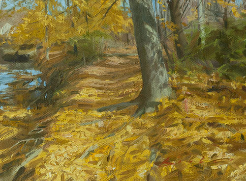 painting titled maple path