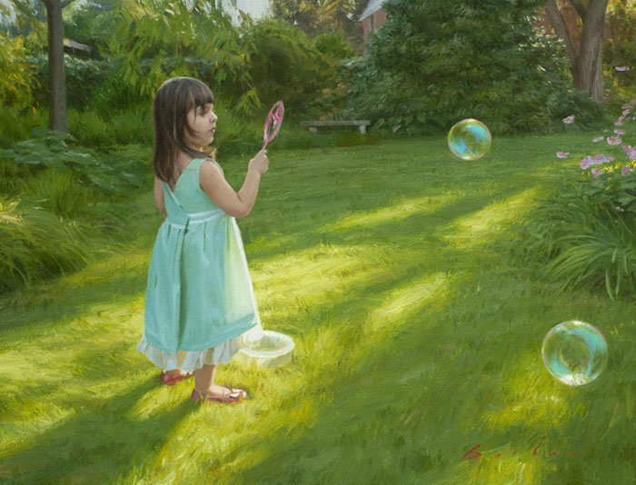 painting titled summer bubbles