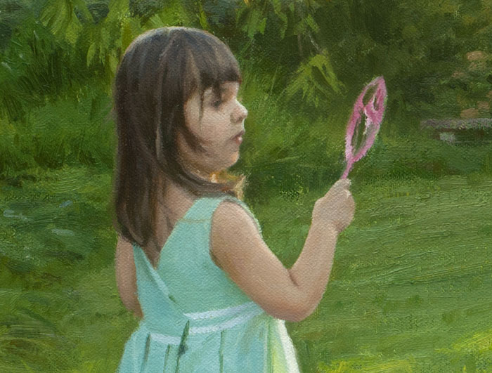 detail of painting titled summer bubbles