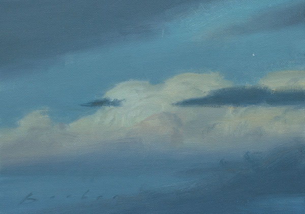 painting titled twilight cumulus