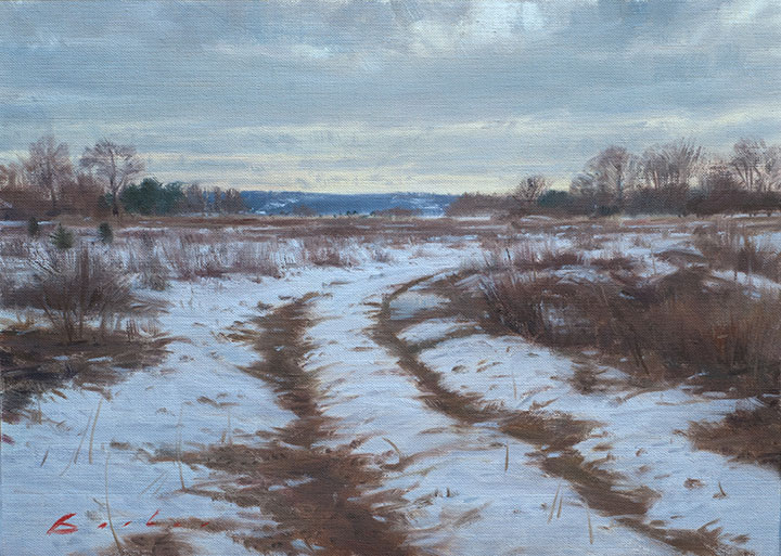 painting titled winter meadow